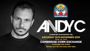 Warning presents ANDY C!